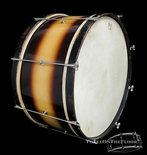 19340s Leedy 'Single Tension' Bass Drum Duco Finish : 12 x 24