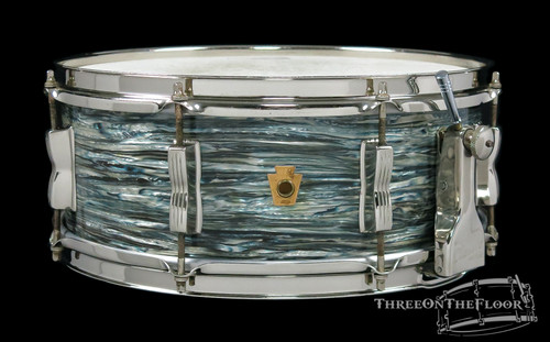 1955-59 WFL Ludwig 'Super Classic' Snare Drum Oyster Blue Pearl  : 5.5 x 14