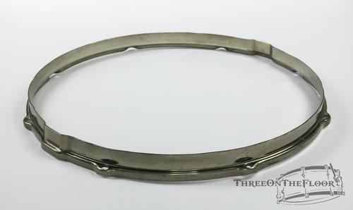 """1950s Leedy Ludwig Field Snare 15"""" 8-Lug Resonant Snare Hoop Nickel HP14LLN"""