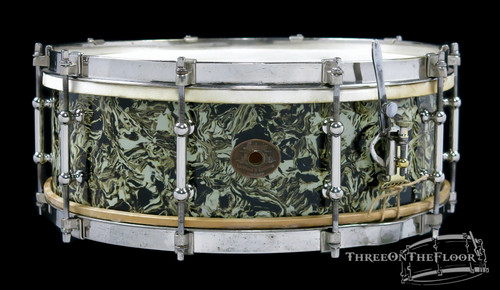 1920s Ludwig Professional Model Snare Drum Vinage Marble Pearl : 5 x 14