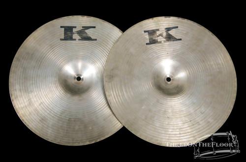 "Zildjian 1977-79 Canadian K 14"" Hi Hat Cymbals : Vintage K. Hats **SOLD**"