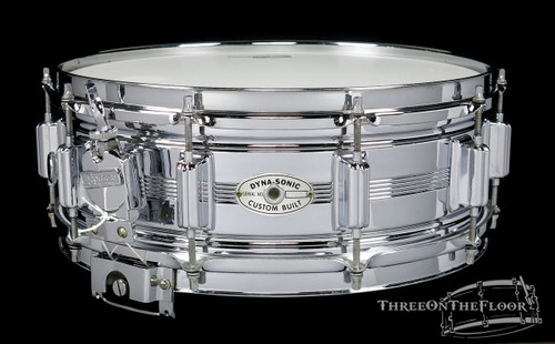 1971 Rogers Dynasonic Vintage Chrome over Brass Vintage Snare Drum : 5 x 14 **SOLD**
