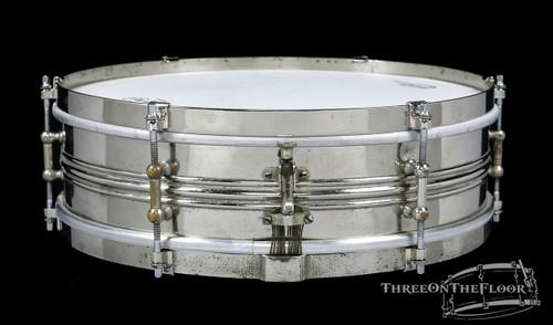 1920s Slingerland Universal Model Vintage Brass Snare Drum : 4 x 14 **SOLD**