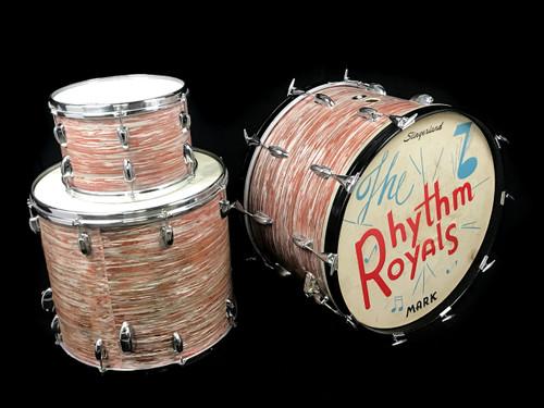 1960s Slingerland Pink Oyster Drum Kit : 22 - 18 - 12 **SOLD**
