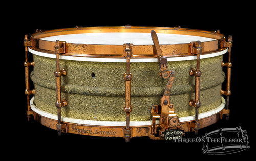 1926 Ludwig Stipple Gold 'Super Ludwig'  :  5 x 14