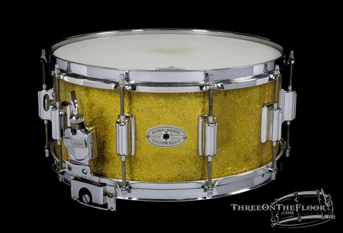 1967 Rogers Gold Sparkle Dynasonic Snare Drum :  6.5 x 14 **SOLD**