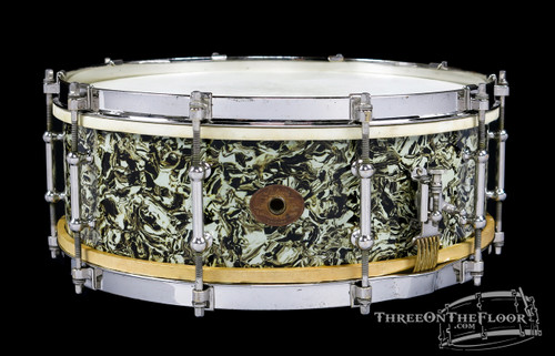 1928 Ludwig Marble Pearl Standard Model Snare :  5 x 14