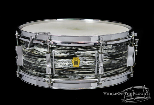 1964 Ludwig Oyster Black Pearl Jazz Festival Snare :  5 x 14