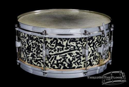 1920s Leedy Black Onyx Professional Model Snare Drum :  6 x 14