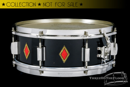 1935 Leedy Full Dress Duco Broadway Standard Snare Drum :  5 x 14