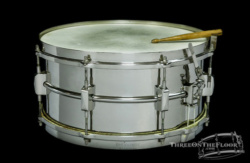 1930s Leedy Broadway Standard Model Snare Drum :  6.5 x 14