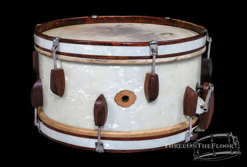 1940s Slingerland WWII Rolling Bomber Snare Drum  : 7 x 14