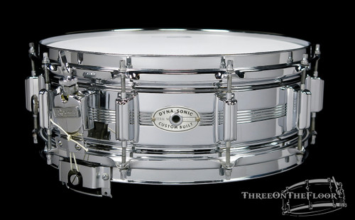 1969 Rogers Dynasonic Vintage Chrome over Brass Vintage Snare Drum : 5 x 14 **SOLD**