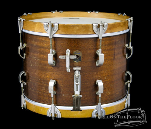 "1940s Leedy ""The Academy Street"" Model Solid Wood Snare Drum :  10 x 14"