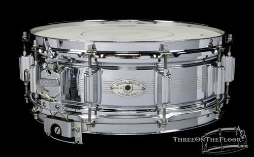 1965 Rogers Dynasonic Vintage 7-Line Brass Vintage Snare Drum : 5 x 14 **SOLD**