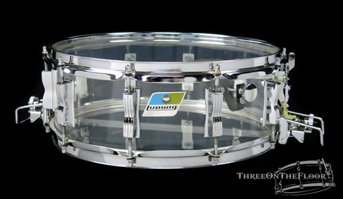 1976 Ludwig Super Sensitive Vistalite Snare Drum Clear : 5 x 14 **SOLD**