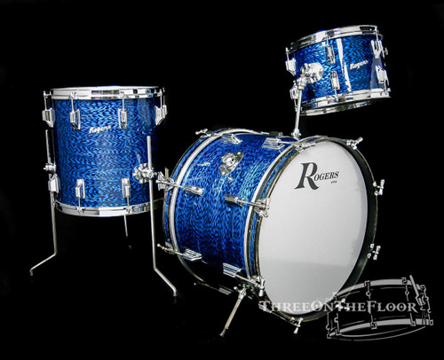 1966 Rogers Holiday Model Drum Kit Blue Onyx - 20 12 14 **SOLD**