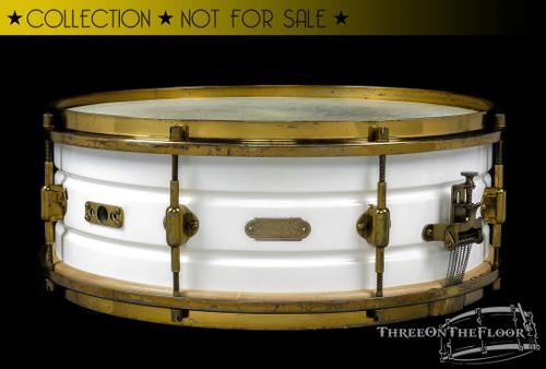 1923-25 Leedy Multi-Model White Elite Snare Drum :  5 x 14
