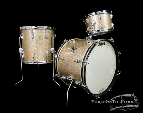 1966 Ludwig Champagne Sparkle Downbeat Drum Kit - 20 12 14 : SOLD