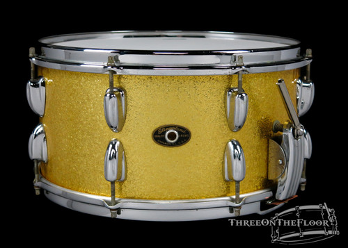 1956-59 Slingerland Radio King Model Snare Drum Gold Sparkle : 6.5 x 14