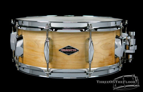 Craviotto Johnny C Model Diamond Maple Snare Drum Solid Shell : 5.5 x 14