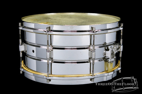 1920s Leedy Professional Model Elite Snare Drum Brass :  7 x 14