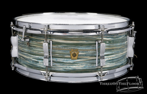 1966 Ludwig Oyster Blue Pearl Jazz Festival Snare Drum : 5 x 14 **SOLD**