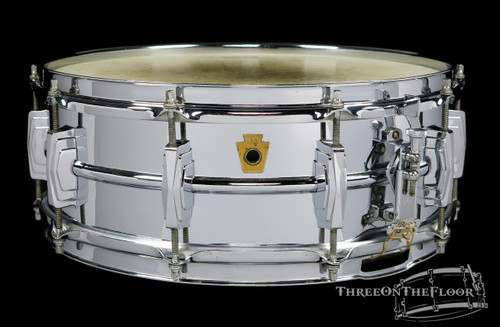 1958 WFL - Super Ludwig LM400 Brass Supraphonic Snare Drum : 5 x 14