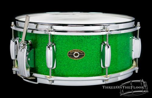 1958-62 Slingerland 'Hollywood Ace' Model Snare Drum Sparkling Green : 5 x 14