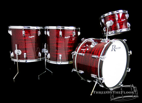1972 Rogers Holiday Powertone Model Drum Kit : Red Onyx : 20 13 16 18 **SOLD**