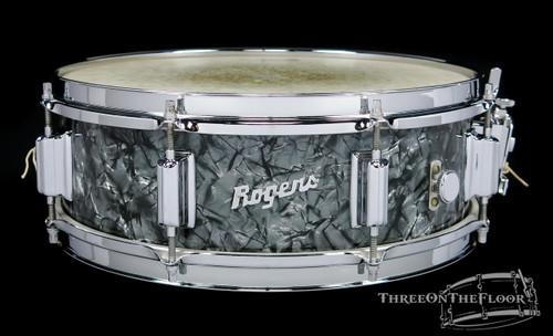 1967 Rogers Powertone Model Wood Vintage Snare Drum Black Diamond : 5 x 14 **SOLD**