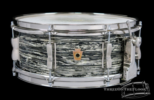 1958 Ludwig WFL Oyster Black Pearl Super Classic Snare Drum : 5.5 x 14