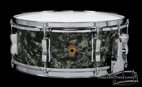 1958 Ludwig WFL Black Diamond Pearl Super Classic Snare Drum : 5.5 x 14