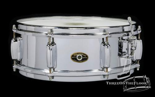 1960-62 Slingerland Sound King Brass Snare Drum : 5x14
