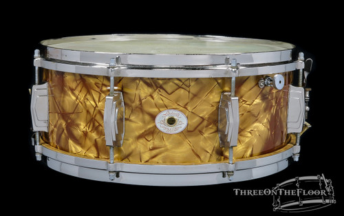 1940s Ludwig Standard Model 'Butterscotch' Snare Drum :  5.5 x 14