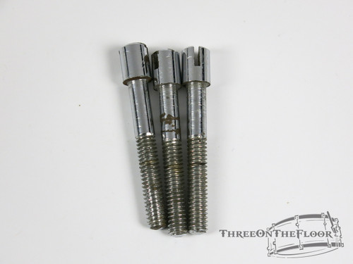 """(x3) Vintage Premier Snare / Tom Slotted Tension Rods 2"""" : Lot050"""