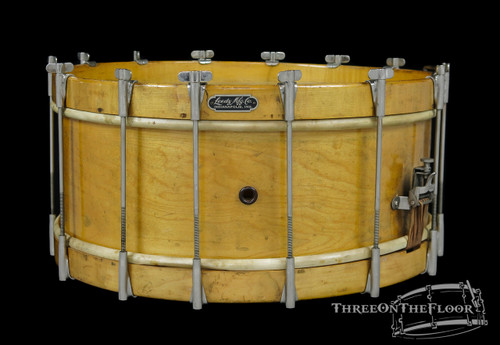 1900s / 1910s Leedy MFG Single Tension Vintage Snare Drum : 6 x 16