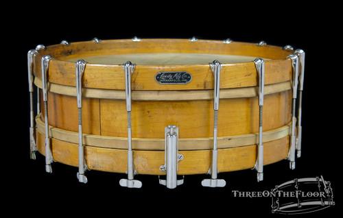 1900s / 1910s Leedy MFG Single Tension Vintage Snare Drum : 4 x 15