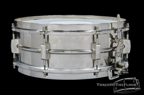 1932-38 Leedy Broadway Parallel Model Snare Drum Brass : 5 x 14 **SOLD**