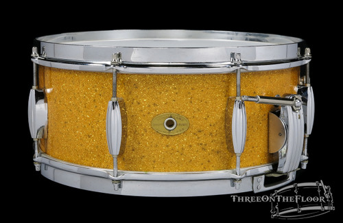 1953-56 Slingerland Super Krupa Radio King Model Snare Gold : 6 x 14