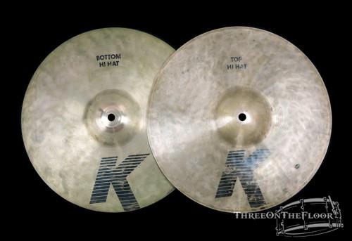 "1982-88 Zildjian EAK 13"" Hi Hat Cymbals : 'Early American K' : 940/1240g"