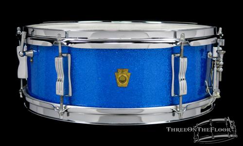 1964 Ludwig Pioneer Blue Sparkle Snare Drum Vintage Keystone : 5 x 14 **SOLD**