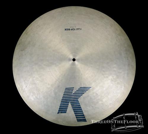 """1982-88 Zildjian EAK 20"""" Flat Ride : 'Early American K' Cymbal : 2300g : SOLD"""