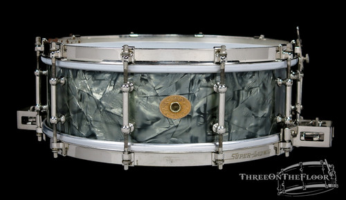 1920s Ludwig 'Super Ludwig' Model Snare Drum Black Diamond  : 5 x 14