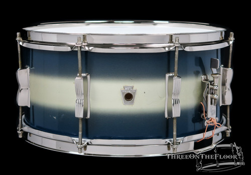 1940s WFL Ludwig 'Contest' Model Aluminum Badge Snare Drum  : 6.5 x 14 : SOLD