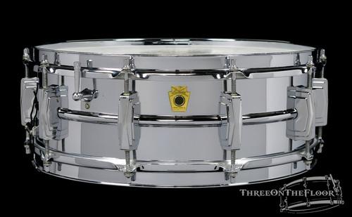 1960-63 Ludwig Supraphonic Model Pre-Serial Badge Snare Drum : 5 x 14 **SOLD**