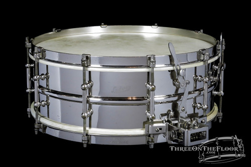 "1929-35 Ludwig ""Super Sensitive"" Model Snare Drum Brass Nickel : 5 x 14 **SOLD**"