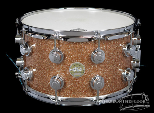 DW Drums Collectors Series Snare Drum Champagne Glass 2007 : 8x14 : SOLD