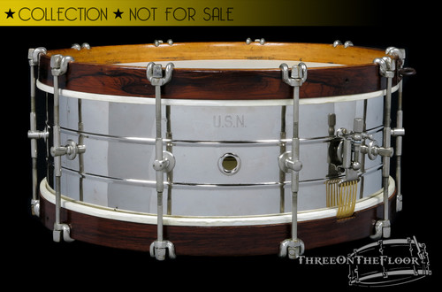 1910s Wilson & Bros US Navy Snare Drum :  5 x 15-1/2