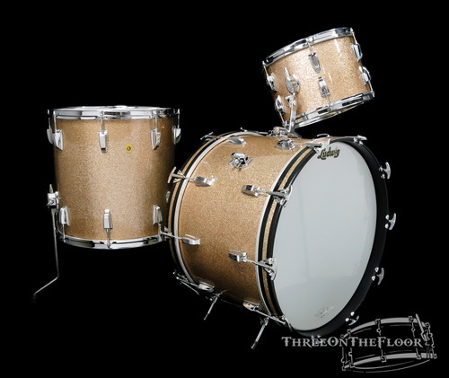 1967 Ludwig Super Classic Drum Kit : Champagne Sparkle : 22 13 16 **SOLD**